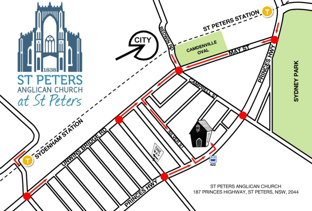 St Peters - MAP